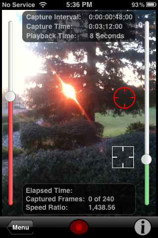 Image of Easy mode with sliders and exposure locks.